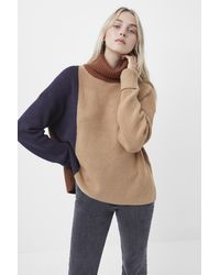 French Connection Babysoft Colourblock Jumper - Natural