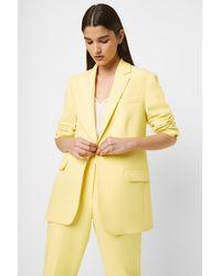 French Connection Adisa Sundae Neon Boyfriend Jacket - Yellow