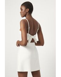 French Connection Summer Whisper Tie Back Dress - White