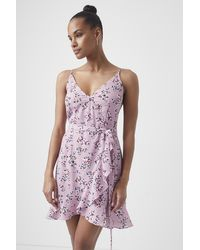 French Connection River Daisy Verona Cami Dress - Purple