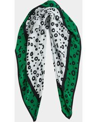 French Connection Doe Print Scarf - Green