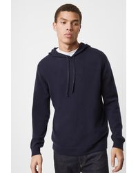 French Connection Cashmere Hoodie - Blue