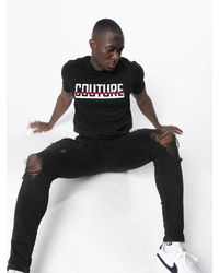 Fresh Couture Crossover T-shirt - Black