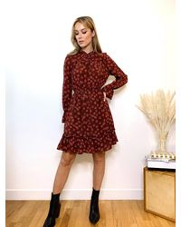 Friday's Edit Layla Floral Mini Dress - Red