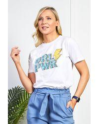 Friday's Edit Blue Girl Power T-shirt