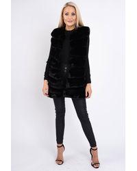 Friday's Edit Margaux Faux Fur Gilet - Black