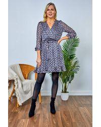 Friday's Edit Rita Printed Short Dress - Multicolour