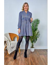 Friday's Edit Fiona Printed Short Dress - Multicolour