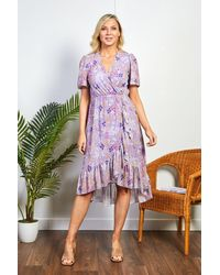 Friday's Edit Zara Purple Summer Print Dress
