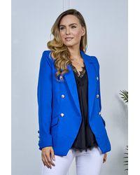 Friday's Edit Mandy Cobalt Blue Button Blazer