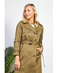 Friday's Edit Khaki Belted Trench Coat - Multicolour