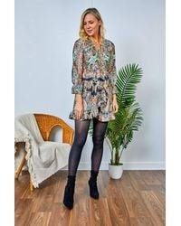 Friday's Edit Emma Short Printed Dress - Multicolour