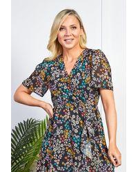 Friday's Edit Zara Dark Summer Print Dress - Multicolour