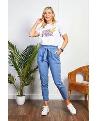 Friday's Edit Purple Girl Power T-shirt - Multicolour
