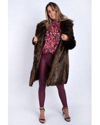 Friday's Edit Hellen Faux Fur Coat - Multicolour