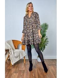 Friday's Edit Betty Printed Short Dress - Multicolour