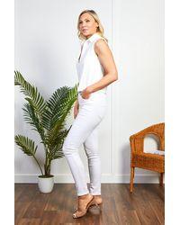 Friday's Edit White Cropped Shirt