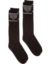 Emporio Armani Men's Socks Bipack - Black