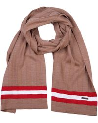 Bally Men's Wool Scarf Camel Knits - Red