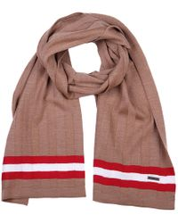 Bally Sciarpa uomo in lana camel knits - Rosso