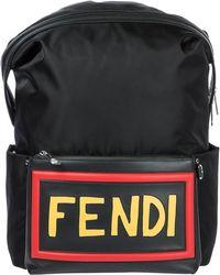 Fendi - Nylon Rucksack Backpack Travel Santander - Lyst