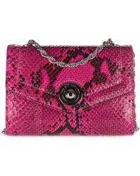 d''Este Women's Clutch With Shoulder Strap Handbag Bag Purse Pitone - Multicolour