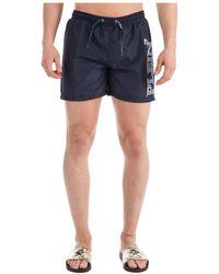 Philipp Plein Men's Boxer Swimsuit Bathing Trunks Swimming Suit - Blue