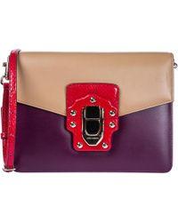 Dolce & Gabbana Borsa donna a spalla shopping in pelle lucia - Rosso