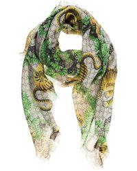 Gucci Shawl Shoulder Wrap Bengal Tiger - Natural