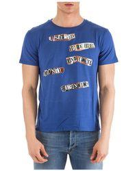 Valentino X Jamie Reid Motif Printed T-shirt - Blue