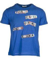 Valentino T-shirt maglia maniche corte girocollo uomo - Blu