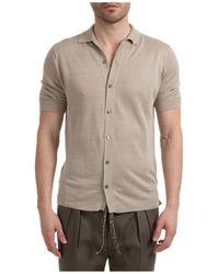 Lardini Men's Short Sleeve T-shirt V Neck Neckline - Grey