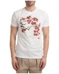 Lardini Men's Short Sleeve T-shirt Crew Neckline Sweater - White