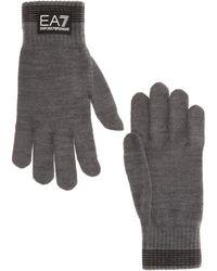 EA7 Men's Gloves - Grey