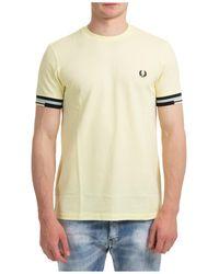 Fred Perry T-shirt maglia maniche corte girocollo uomo - Multicolore