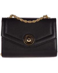 d''Este Women's Clutch With Shoulder Strap Handbag Bag Purse Antibes - Black