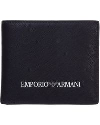 Emporio Armani Men's Wallet Credit Card - Blue