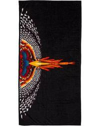 Marcelo Burlon Beach Towel Grizzly Wings - Black