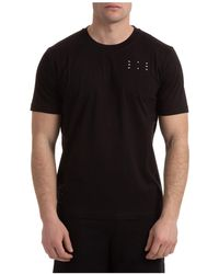 McQ Men's Short Sleeve T-shirt Crew Neckline Sweater - Black