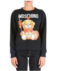 Moschino Women's Sweatshirt Roman Teddy Bear - Black