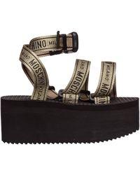 Moschino Women's Sandals Logo Tape - Black