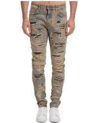 Represent Men's Jeans Denim Shredded - Multicolour