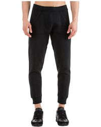 DSquared² Men's Sport Tracksuit Trousers Logo - Black