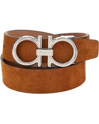 Ferragamo Men's Genuine Leather Belt - Brown