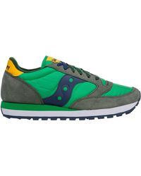 Saucony Men's Shoes Leather Trainers Trainers Jazz - Green