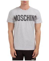 Moschino T-shirt maglia maniche corte girocollo uomo - Grigio