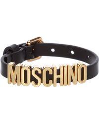 Moschino Bracciale braccialetto donna in pelle - Nero