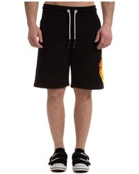 Palm Angels Bermuda shorts pantaloncini uomo smiley burning head - Nero