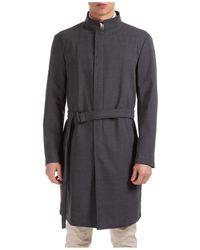 Emporio Armani Men's Wool Coat Overcoat - Grey
