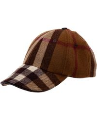 Burberry Adjustable Men's Wool'hat Baseball Cap - Brown